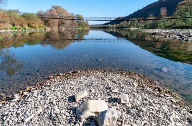 Підвісний міст через ріку Крушельниця