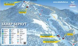 Схема спусків гірськолижного курорту «Захар Беркут»